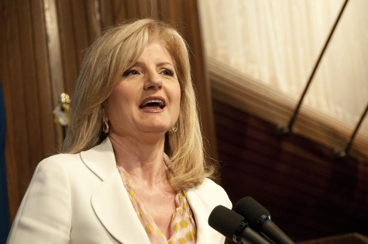 Huffington said the deal would allow Thrive to further develop its platform to 'end the stress and burnout epidemic'