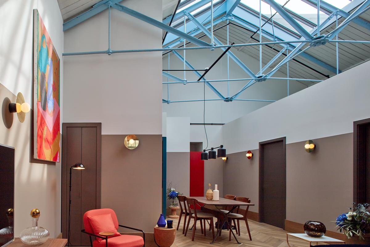 The wrought iron roof frame visible in one of the loft apartments / Native