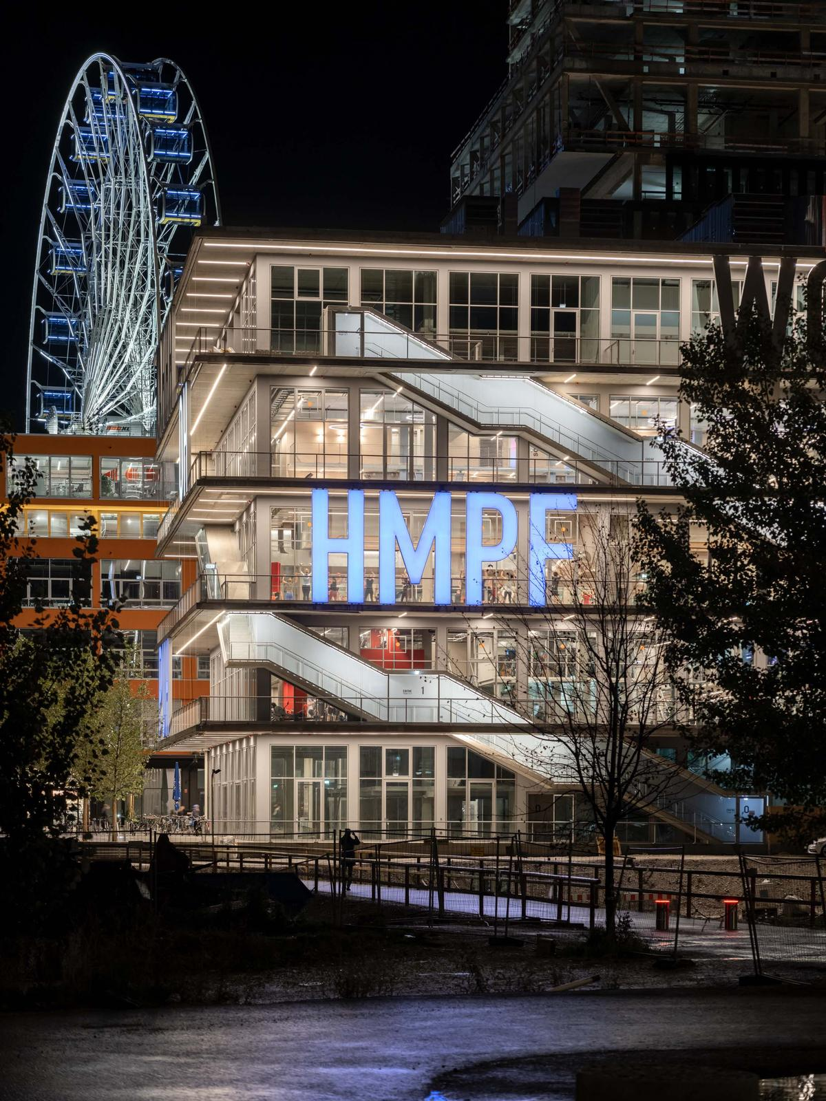 It comprises 5m (16ft)-tall lettering that spells out colloquial expressions / MVRDV