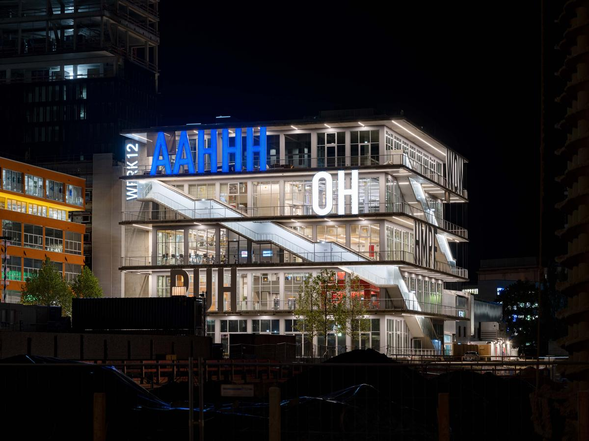 There are different words spelt out on different sides of the building / MVRDV