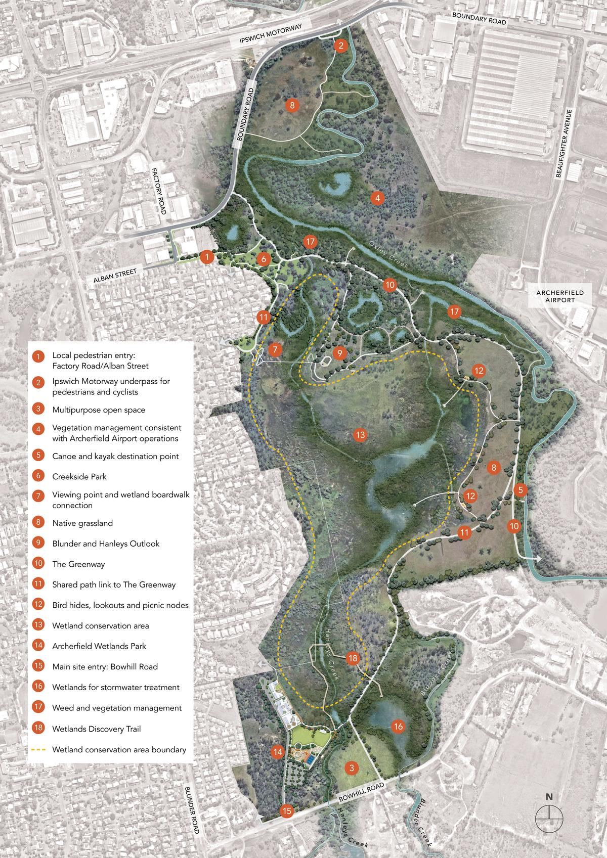 The redevelopment will cover 150ha (16 million sq ft) / Oxley Creek Transformation