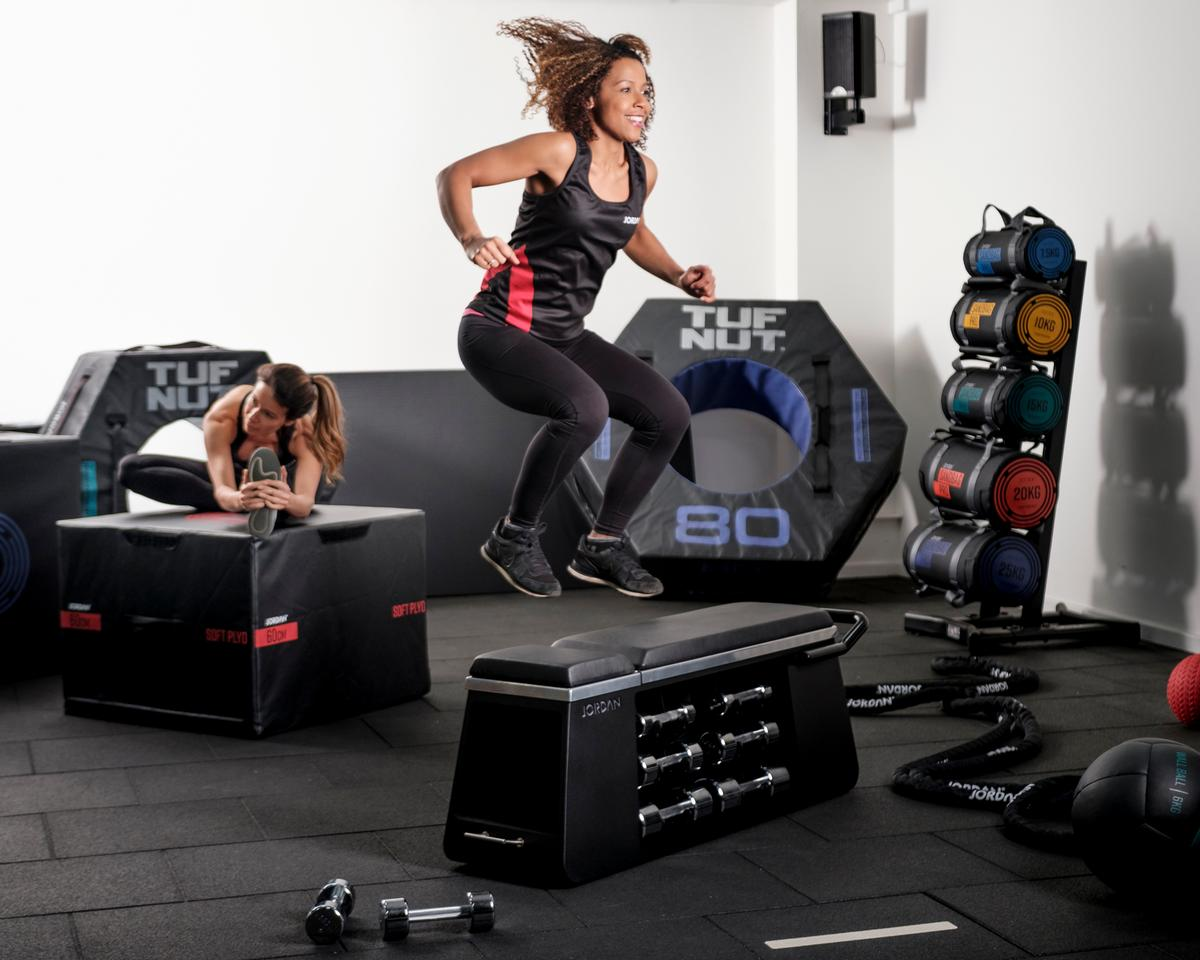 Jordan gives clubs the opportunity to personalise their equipment, including the HIIT Bench, with club logos and colours
