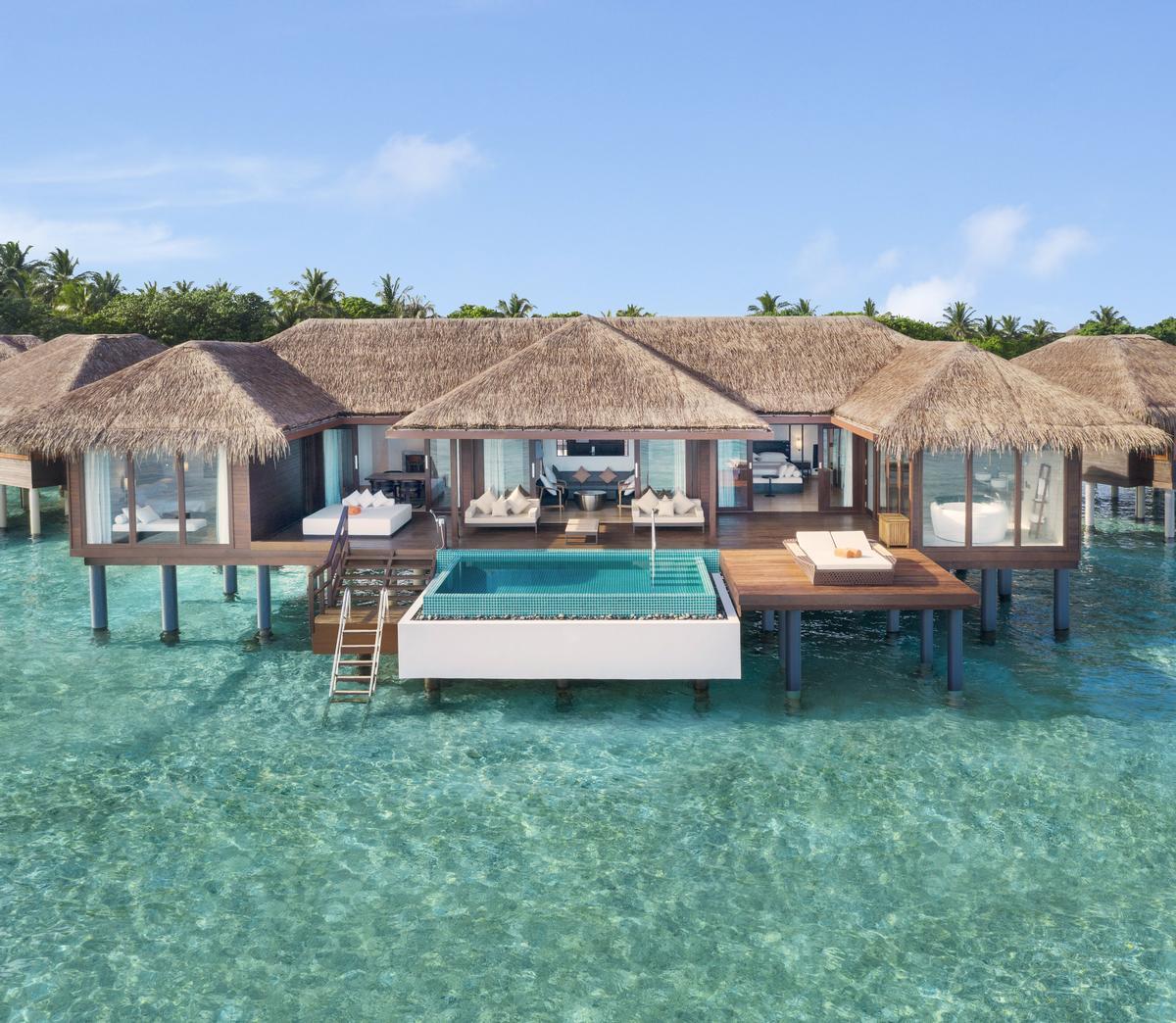 A two-bedroom Water Villa at the Sheraton Maldives resort