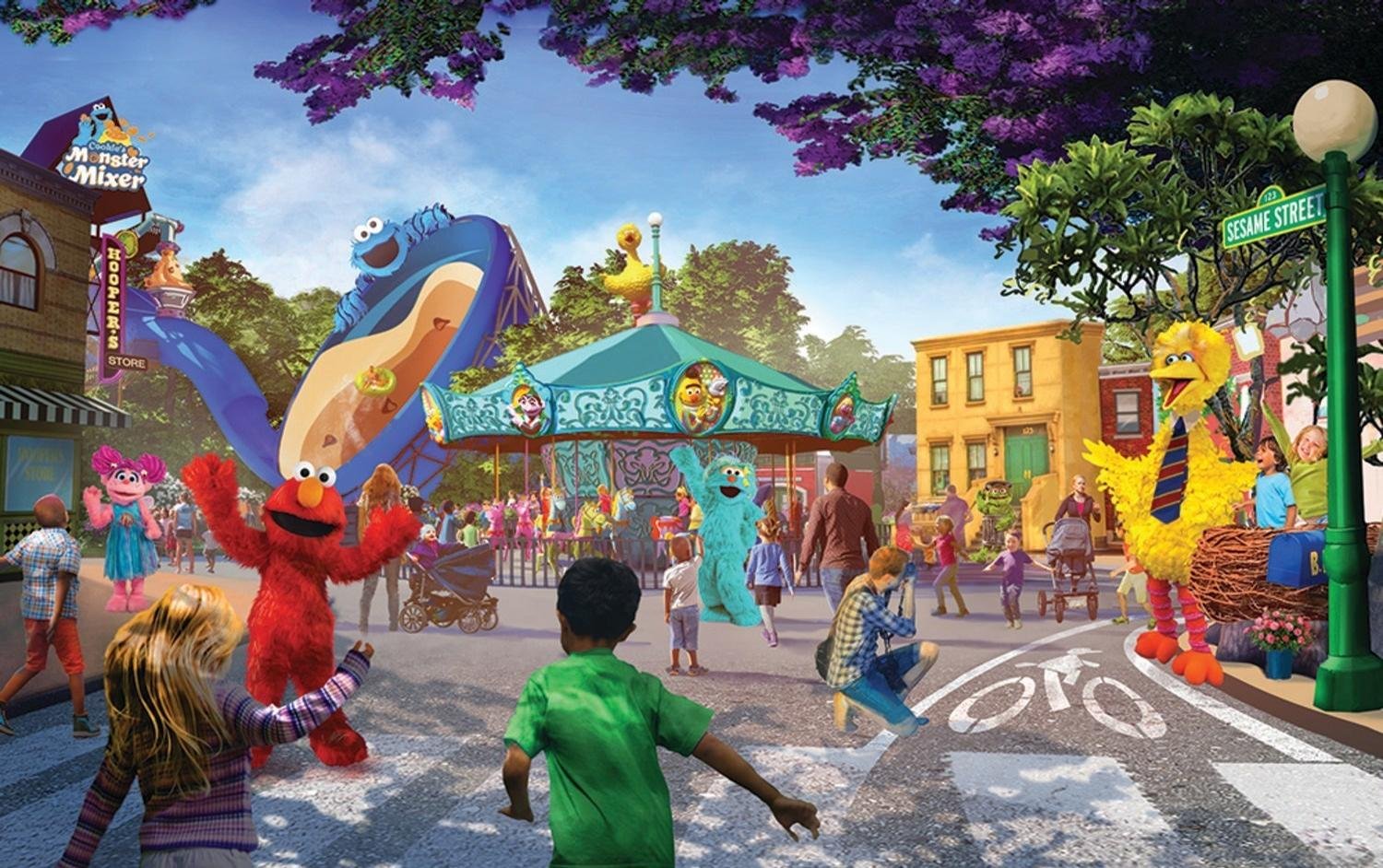 The park will include an interactive Sesame Place neighbourhood / SeaWorld Entertainment, Inc