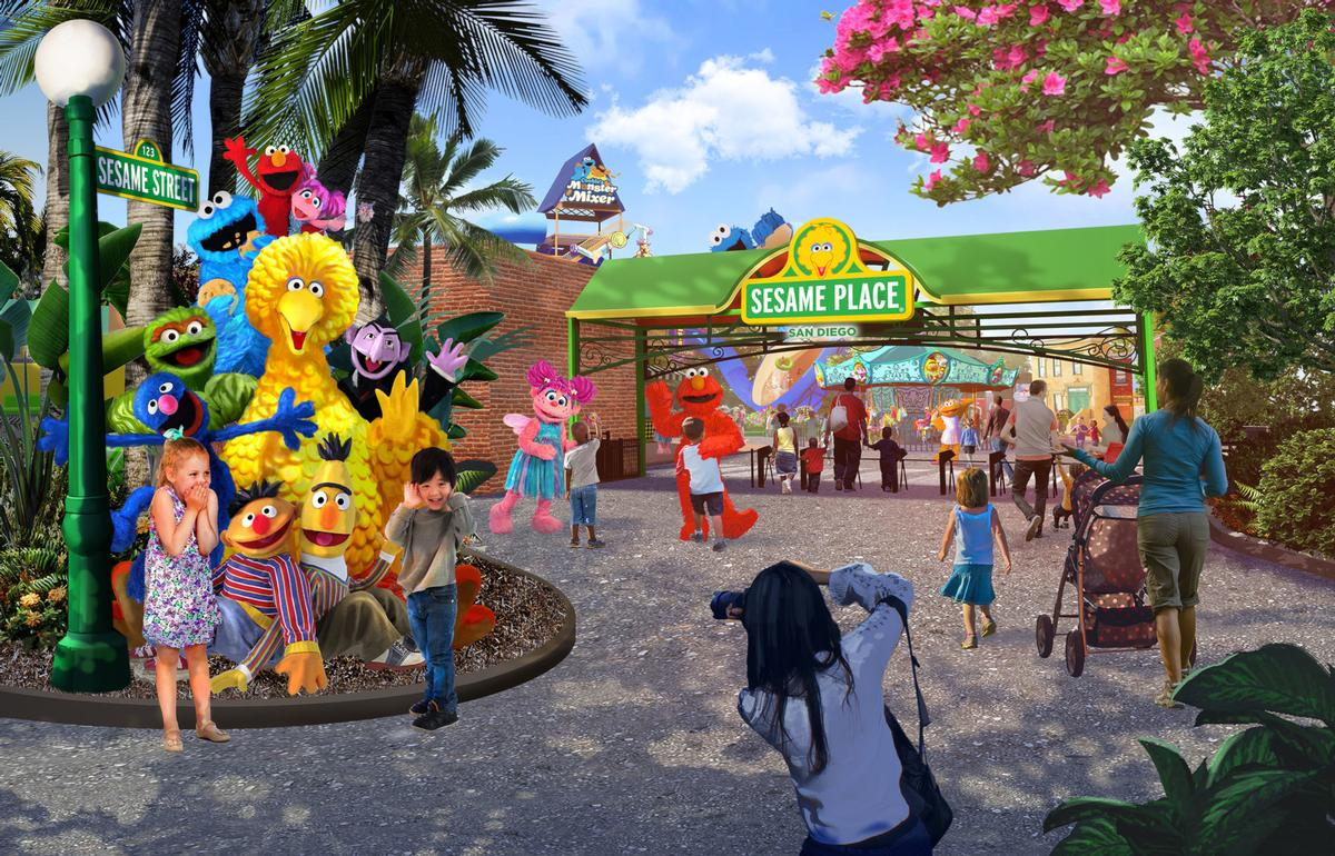 Sesame Place in San Diego is due to open in 2021 / SeaWorld Entertainment, Inc