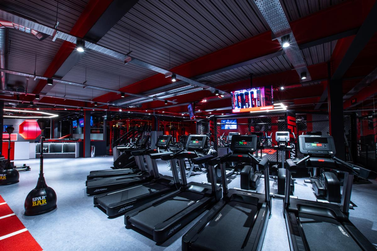 The is a cardio training section / UFC Gym