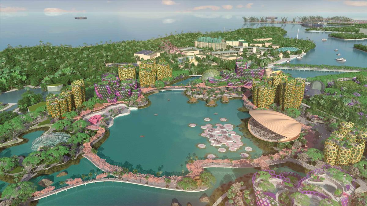 The scheme is aimed at reinventing the islands of Sentosa and Pulau Brani as an 'island playground' / Grant Associates & WilkinsonEyre