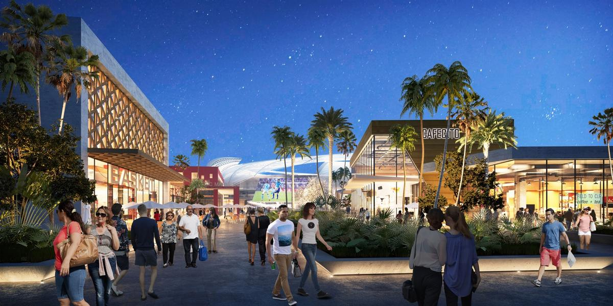 Outside the stadium, the development will feature a hotel, restaurants and shops / Inter Miami CF