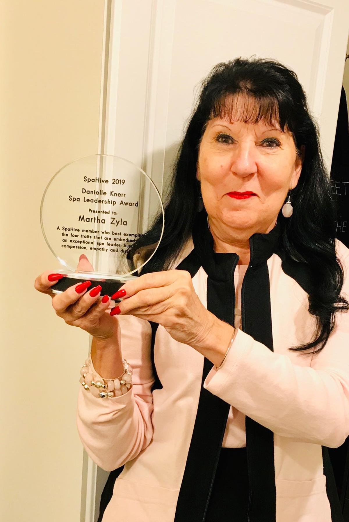 The 2019 award was given to Martha Zyla, spa director at Cascade Spa at Mill Falls, New Hampshire.
