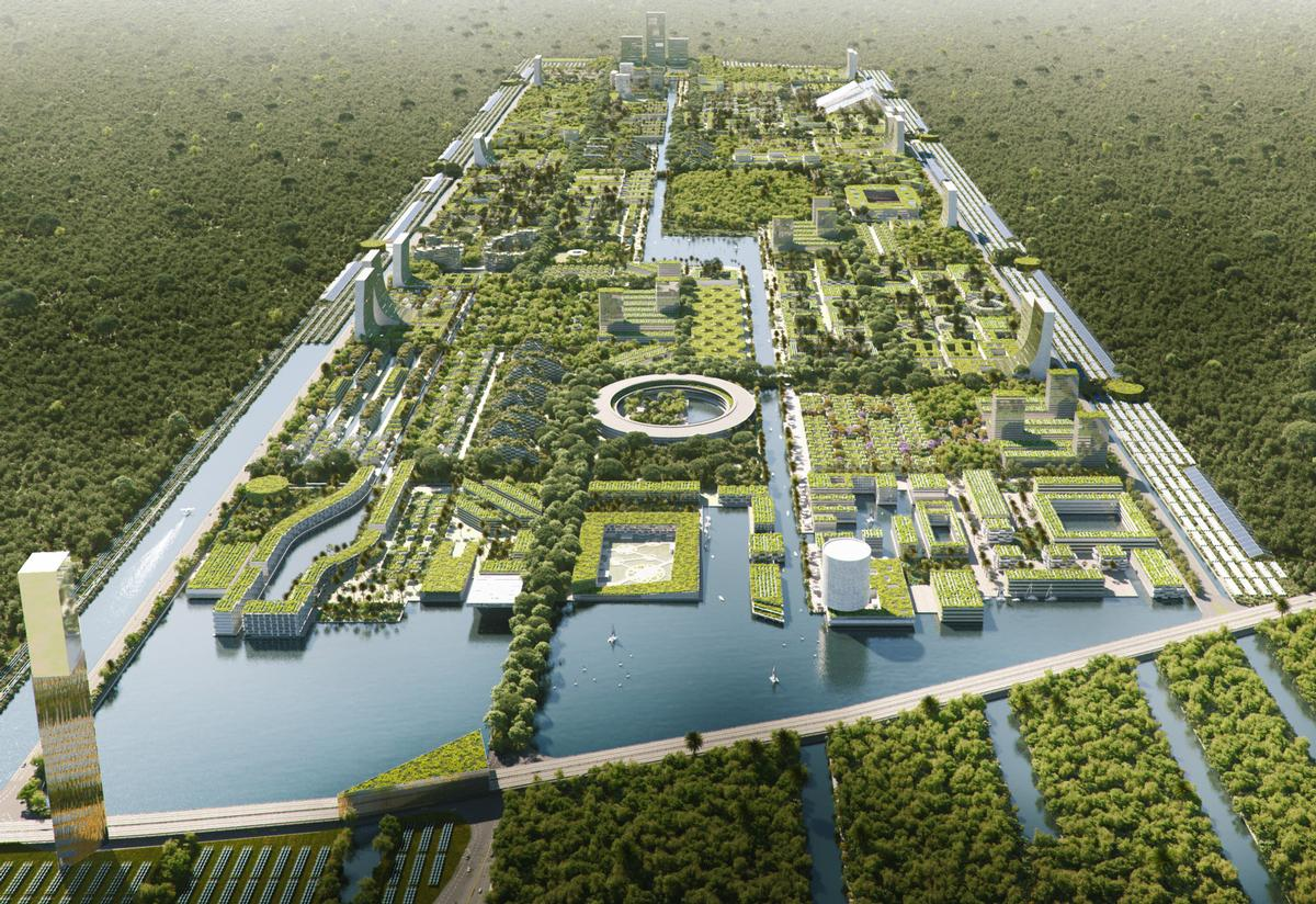 Smart Forest City Cancun will cover 557 ha (1,376ac) / The Big Picture