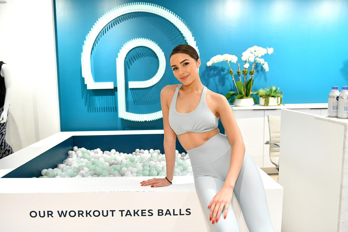 Former Miss Universe and social media influencer Olivia Culpo at the new P.volve studio / P.volve