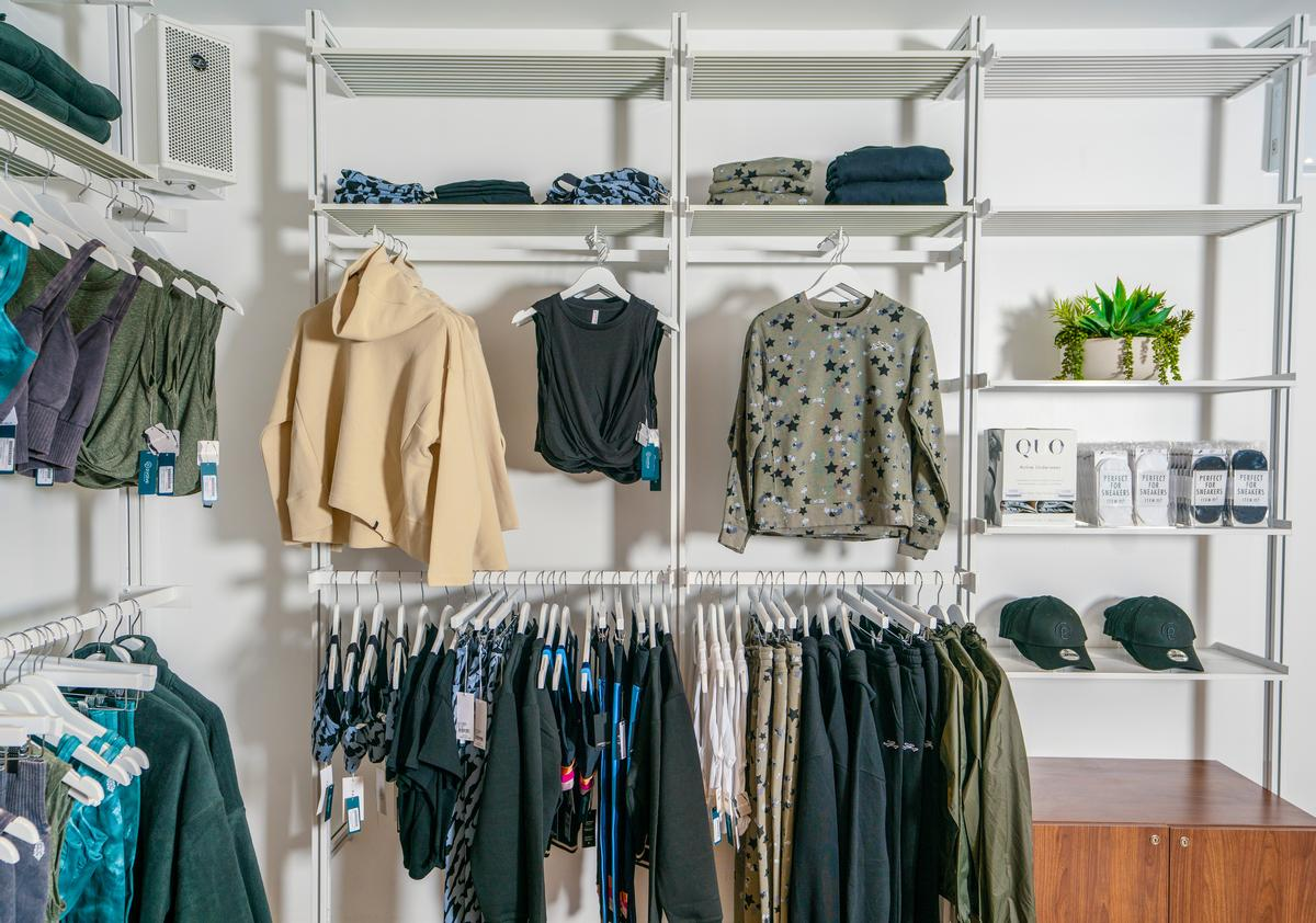 A retail section provides somewhere to sell clothing and equipment / P.volve