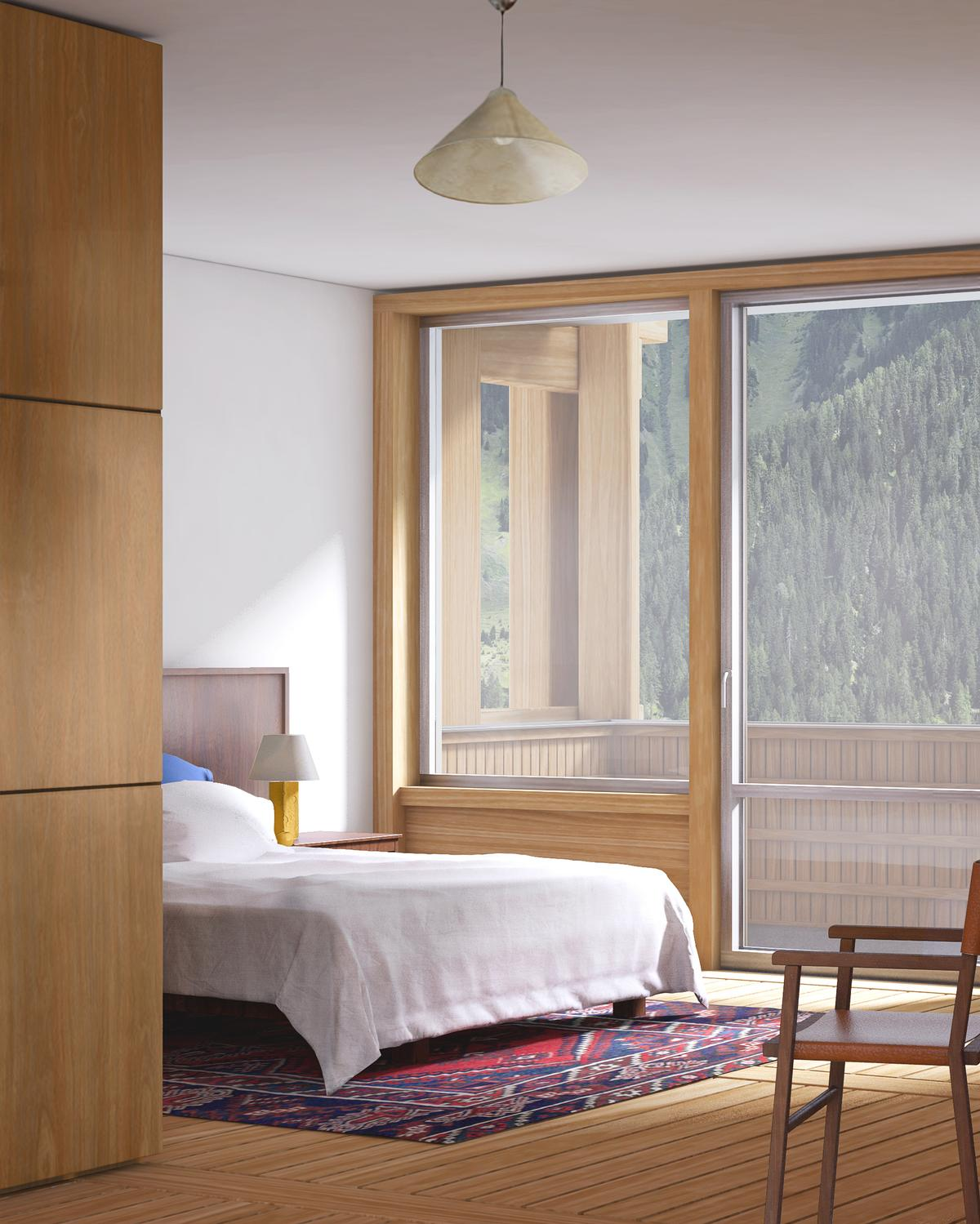 To attract a diverse clientele, some guest rooms will be more simple and affordable while others will be more spacious and luxurious / Hesselbrand