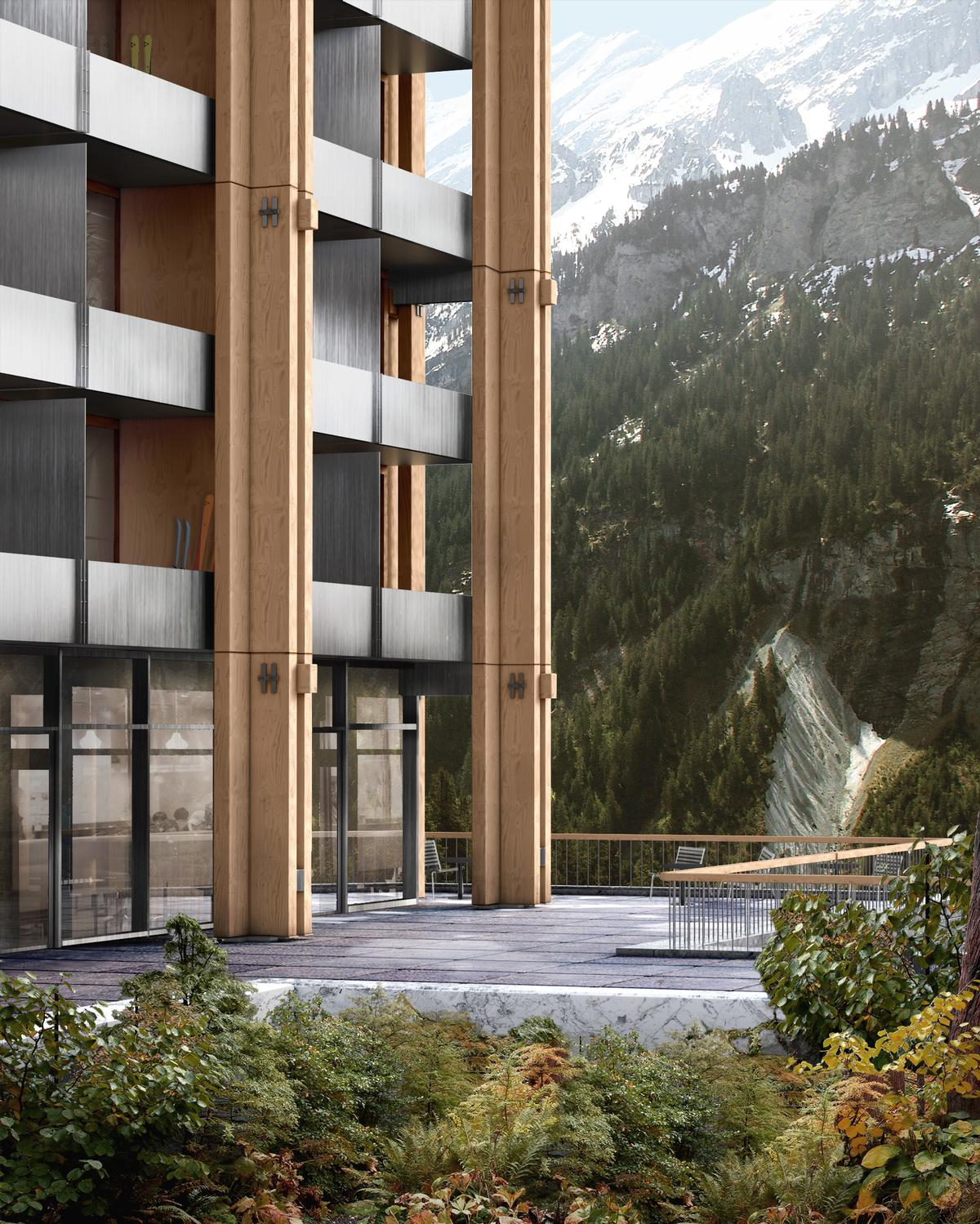 Timber façades are designed to minimise the need for heating and cooling / Hesselbrand