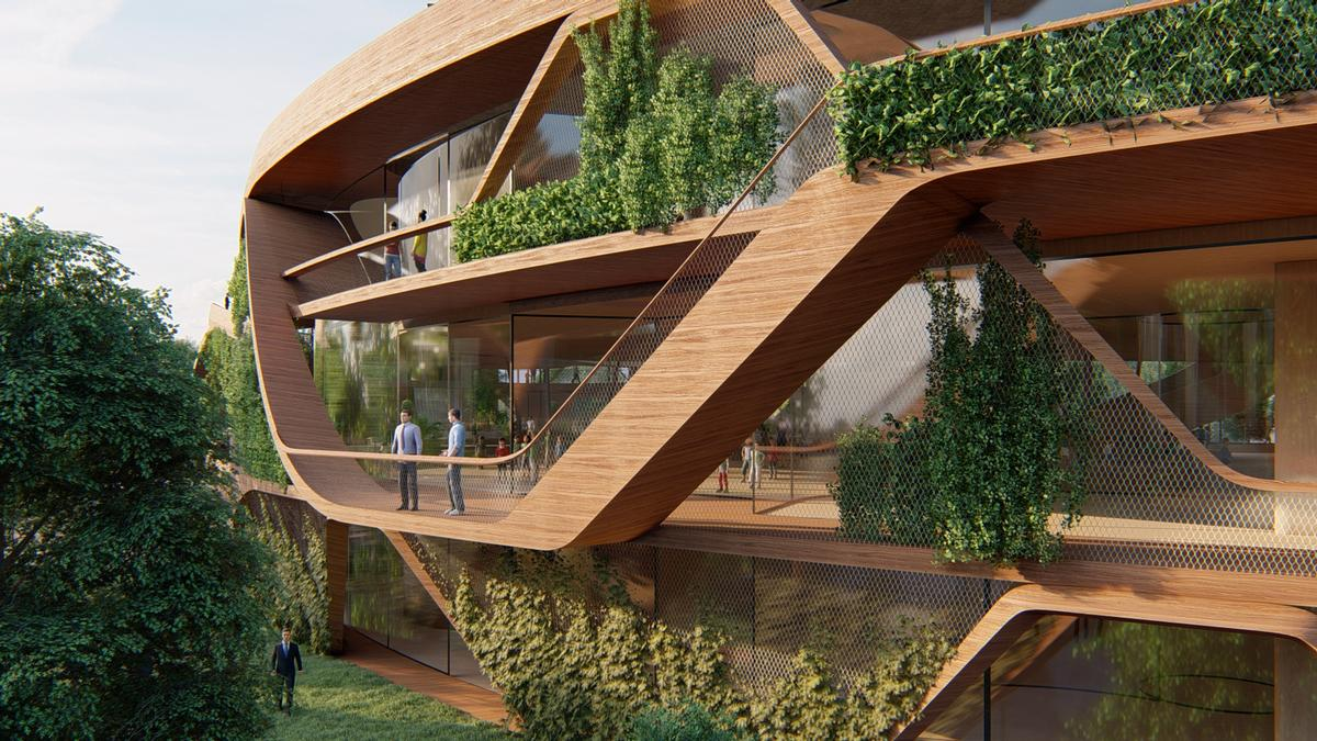 Wooden elements for construction help to balance the CO2 use of materials / Lava