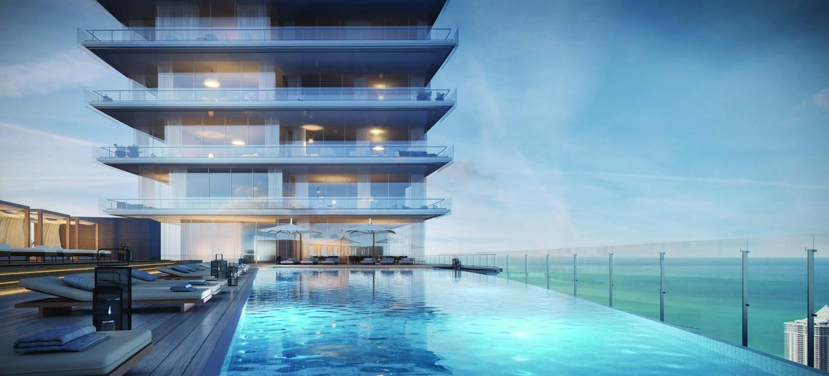 Floor 55 will feature an infinity pool and an accompanying deck / Aston Martin