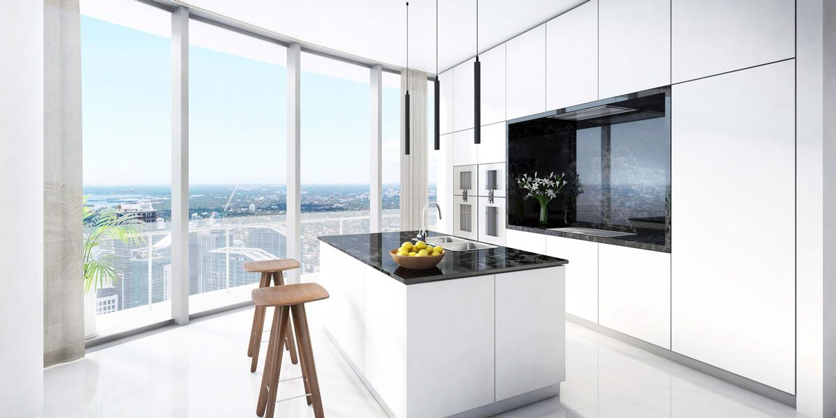 Luxury kitchens will have Bulthaup cabinetry and Gaggenau appliances / Aston Martin