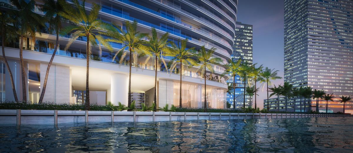 The tower is located at a waterside location / Aston Martin