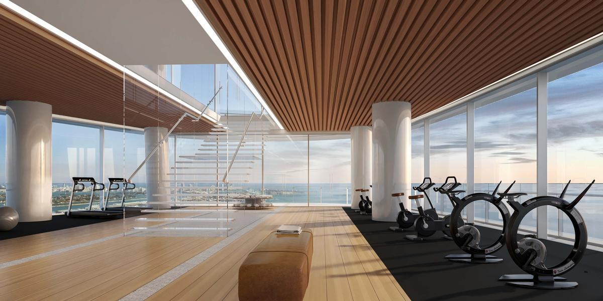 The spa and fitness centre will be spread across two floors / Aston Martin