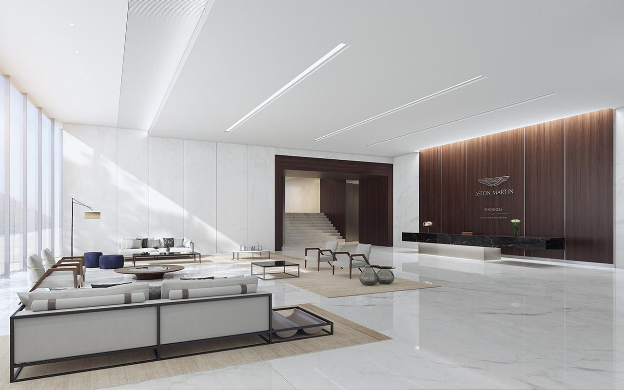Apartments will range in size from 700sq ft (65sq m) to 19,000sq ft (1,765sq m) / Aston Martin