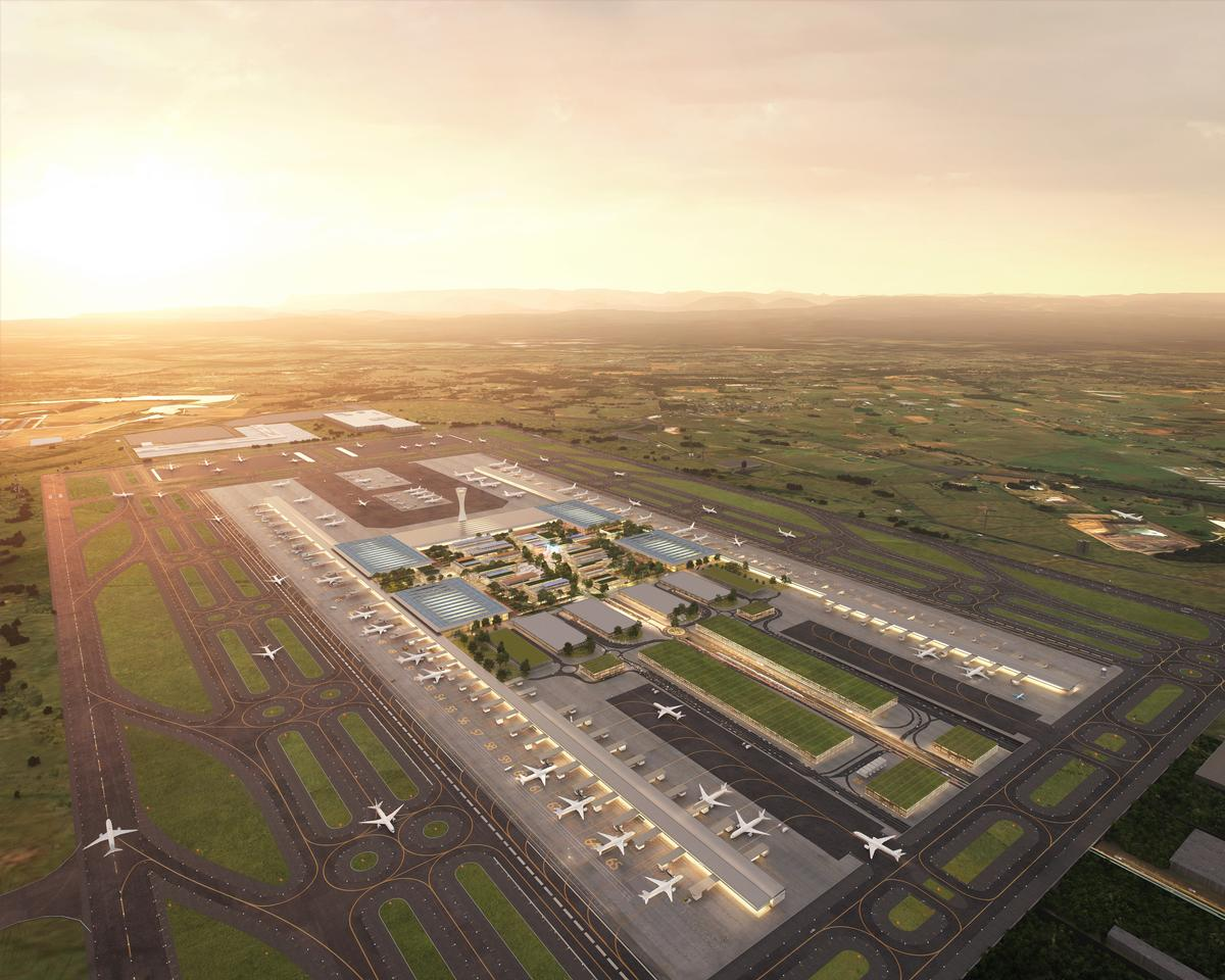 The airport is expected to cost AU$5.3 billion / Zaha Hadid Architects / Cox Architecture