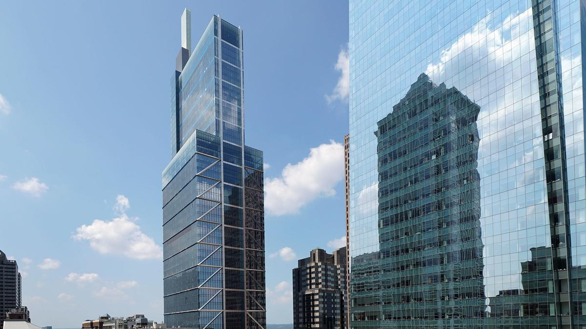 The tower rises 1,121ft (341m) 60 storeys / Comcast