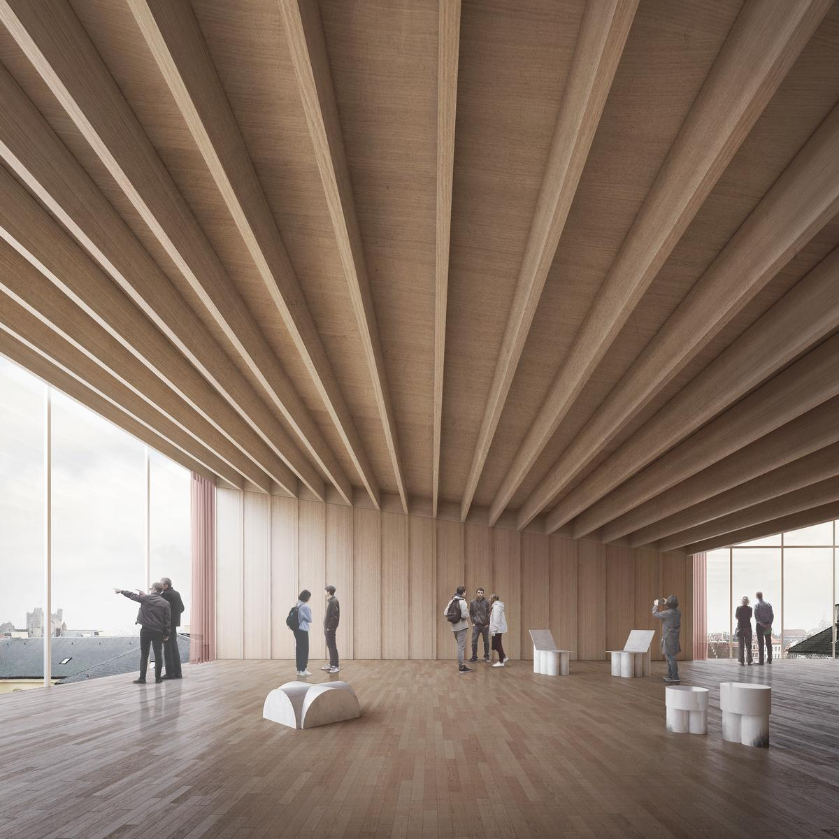 The extension will provide additional spaces for exhibitions, debate, reflection, public activities, retail and catering / TRANS, Carmody Groarke en RE-ST