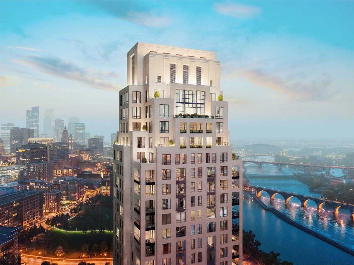 The tower will spread 41 storeys across a height of 550ft (168m) / Robert A.M. Stern Architects
