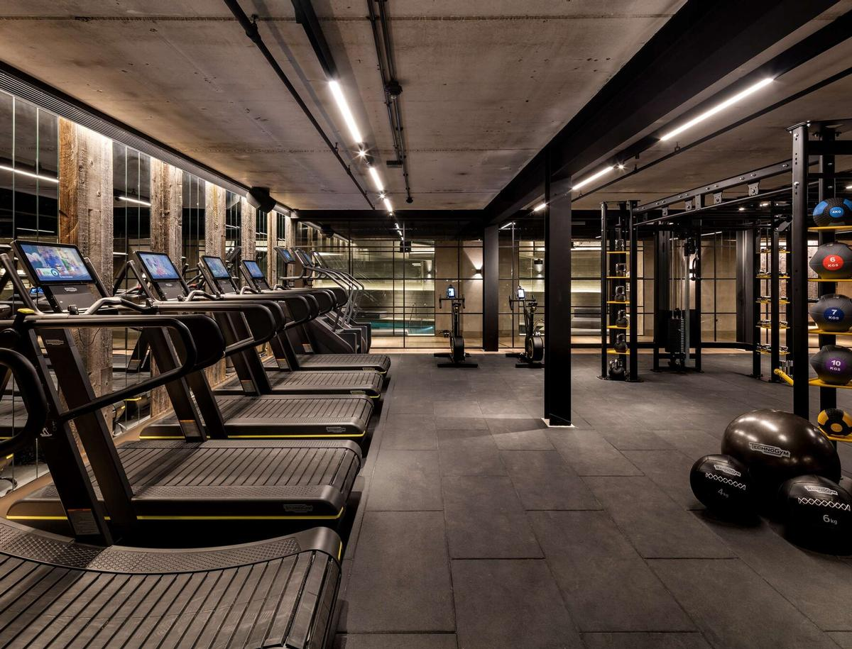 The fitness centre has TechnoGym equipment and sections for cardio and weight workouts / Radisson