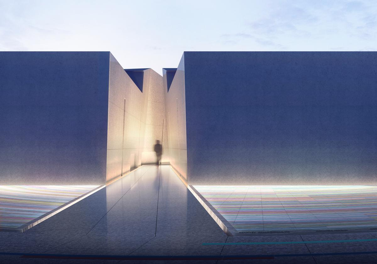 The memorial comprises the preserved nightclub building with an adjacent open space / Coldefy & Associés with RDAI_onePULSE Foundation