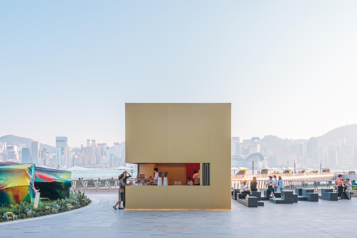 Kube is at once a place to buy coffee, a place to sit and a place to hold events / Kevin Mak