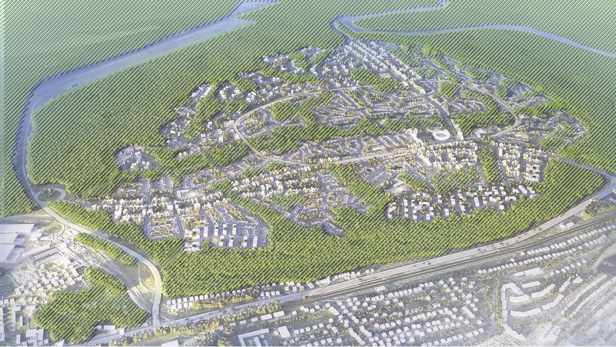 The development will cover an area of 760 ha (1,878ac) / Design Consortium