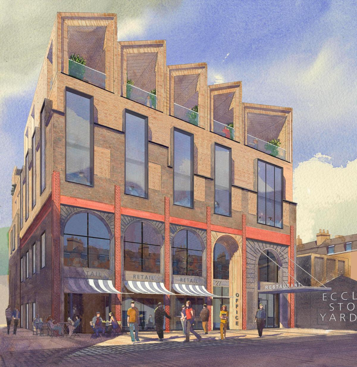 27 Eccleston Place will extend the Eccleston Yards mixed-use development / BuckleyGrayYeoman