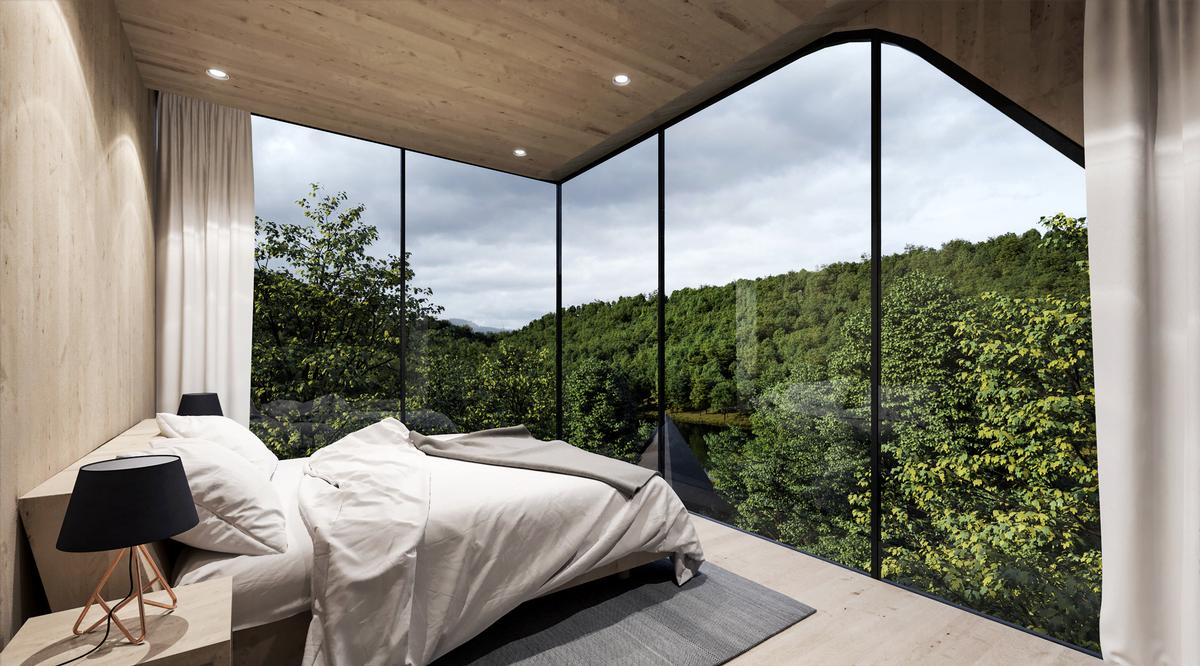 The project was conceived to allow guests to immerse themselves in the serenity of nature for a period / Peter Pichler Architecture