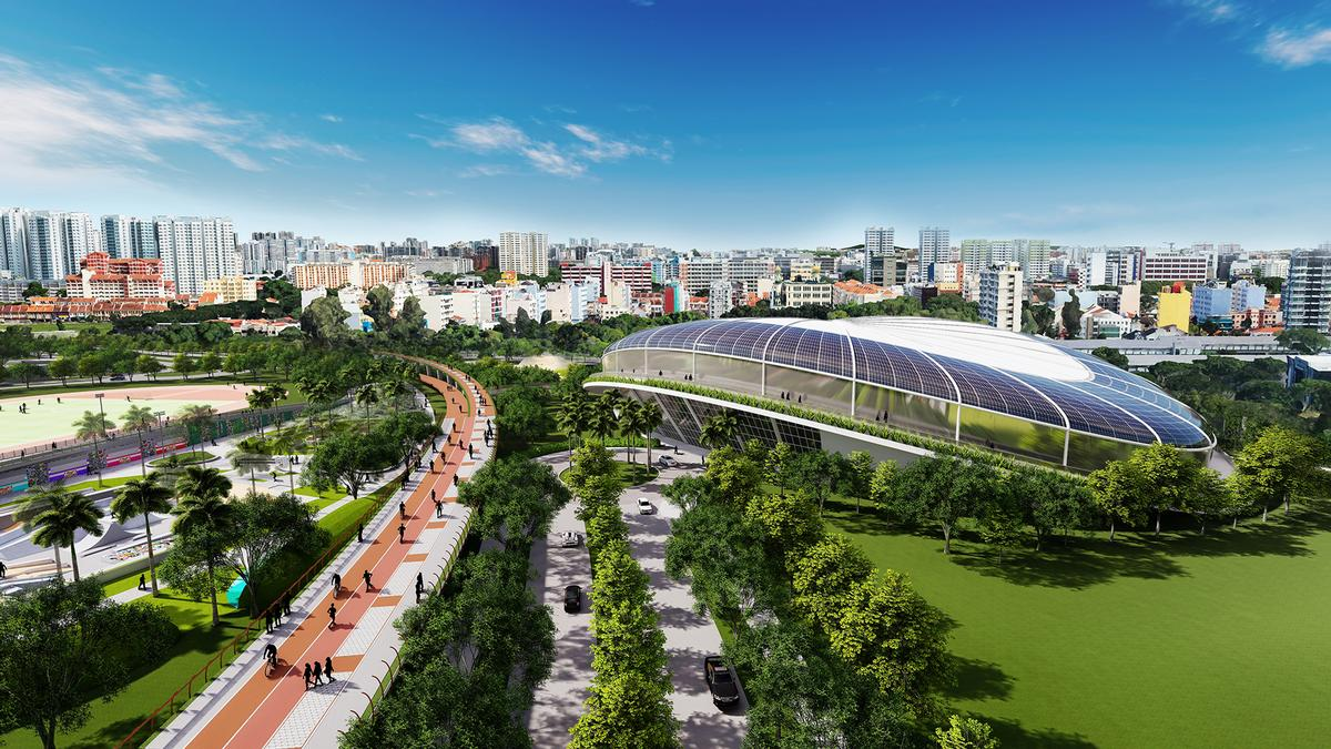 A green loop walking, cycling and e-scooter path will connect areas of the development and the development with other areas in the city / Pomeroy Studio