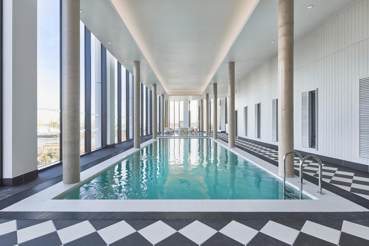 The Collective Canary Wharf has a 14m (46ft) pool on the 20th floor / Ed Reeve