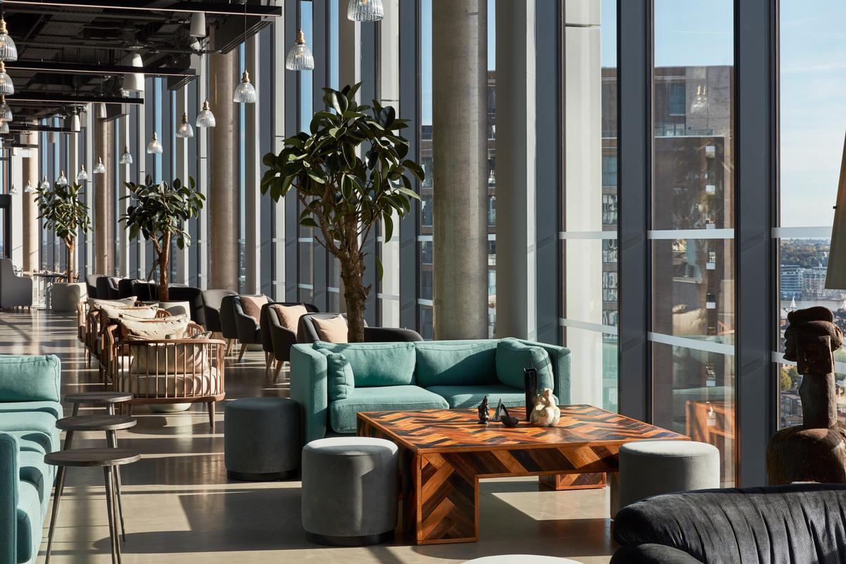 A bar and restaurant on the 20th floor provides panoramic views of the city / Ed Reeve