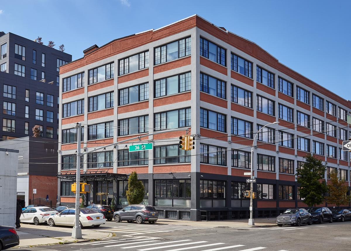 The Collective Paper Factory is located in the Long Island City neighbourhood of New York / The Collective