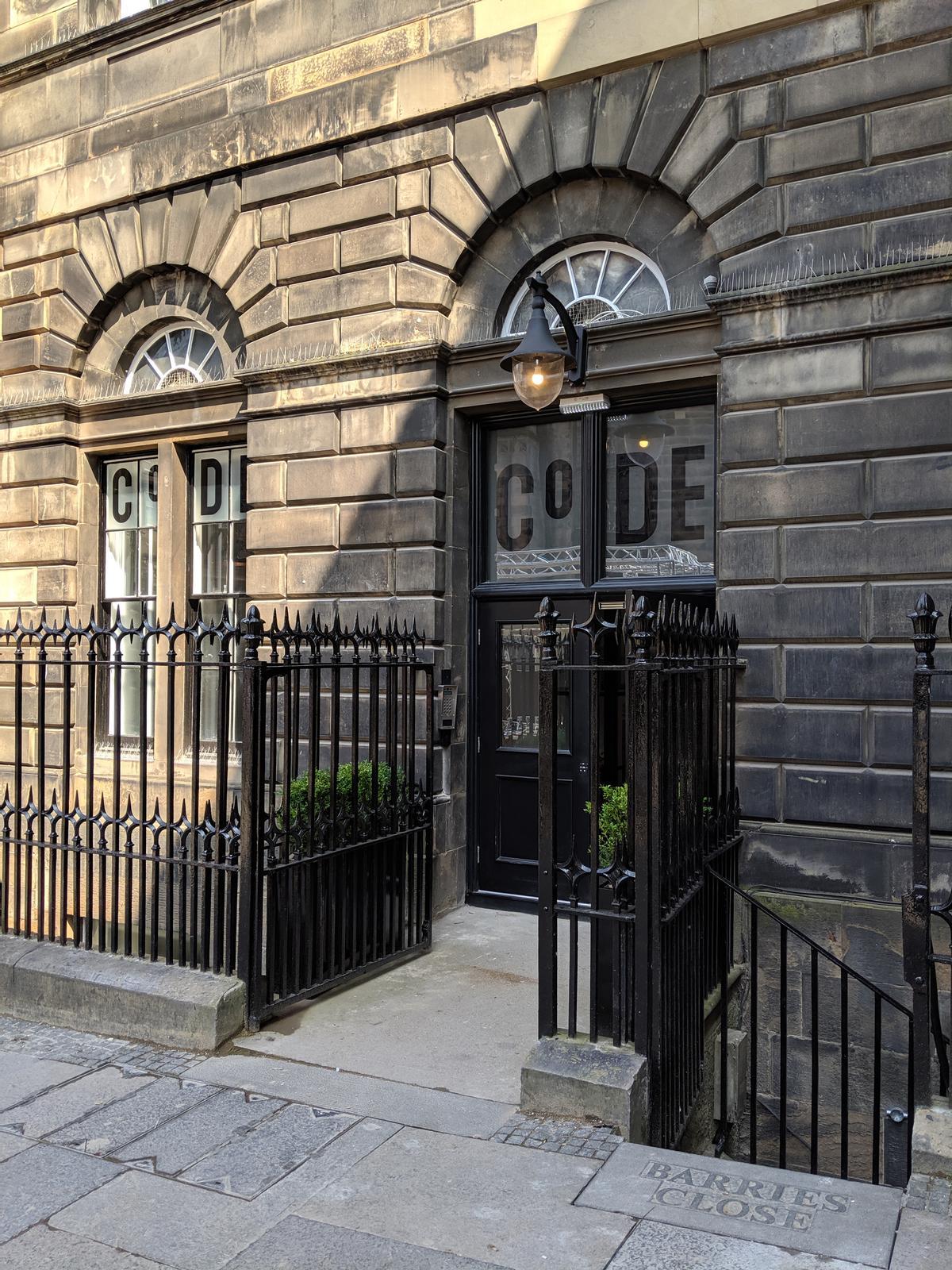 The original entrance door to the building was recreated / Kirsty Brannagan