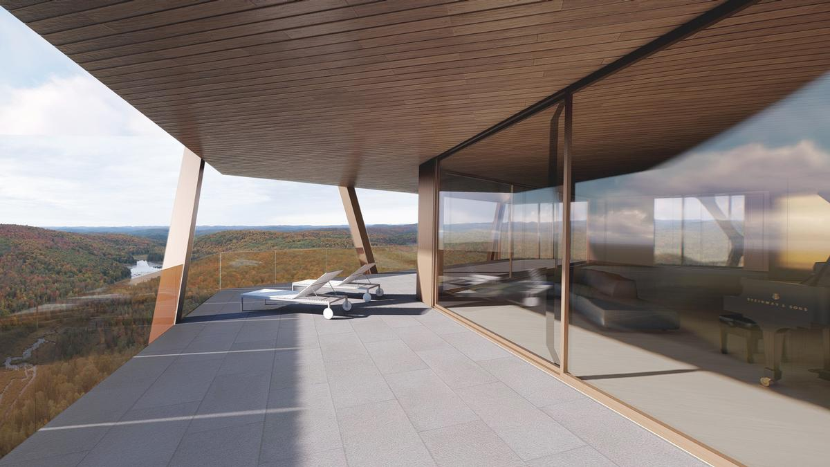 Outdoor spaces provide views and sounds of the surrounding areas / MU Architecture