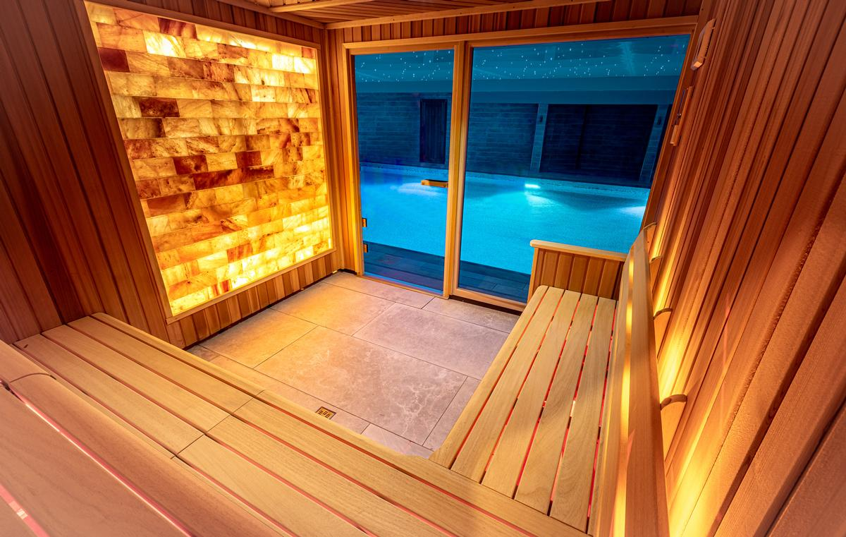 Additional facilities include a spa pool, Himalayan salt sauna, steamroom, experience shower, ice fountain and Rasul.