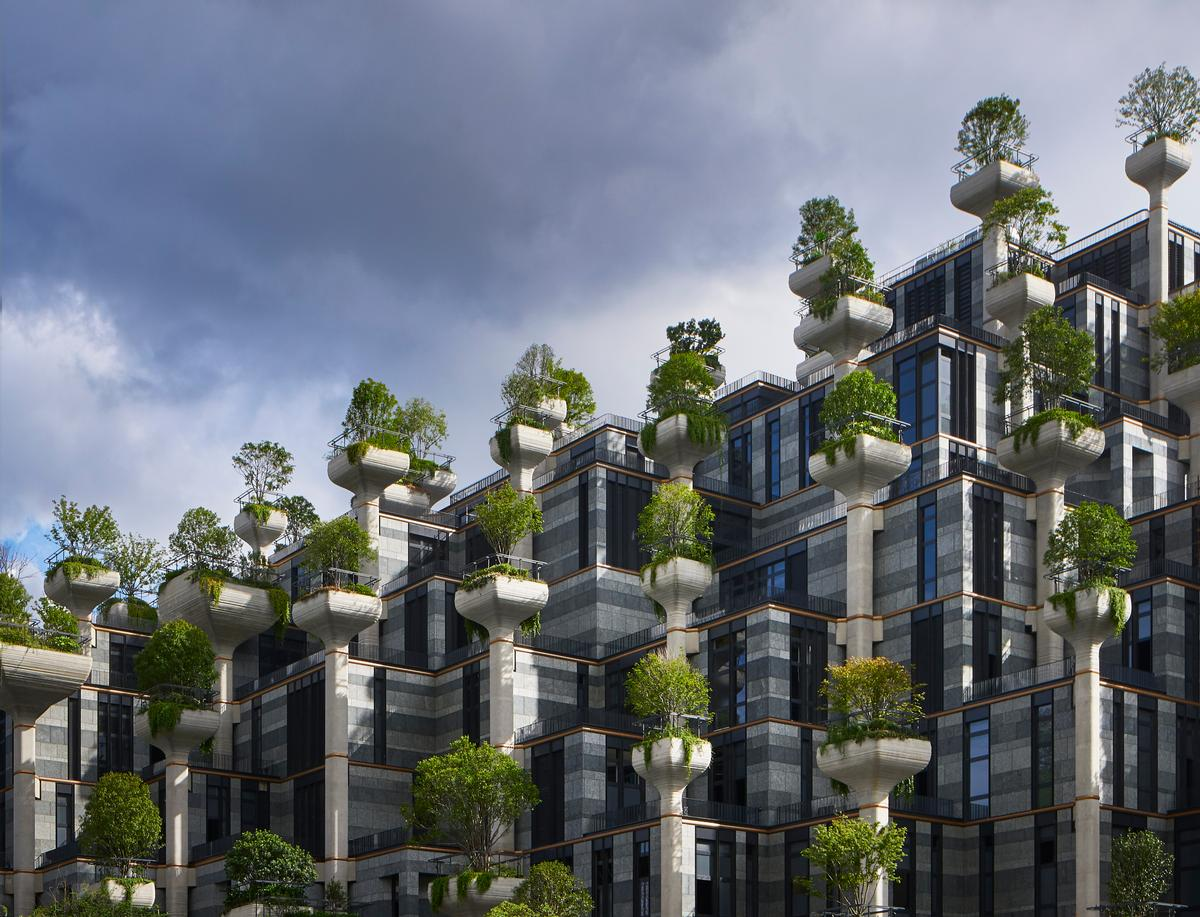 00 Trees takes the form of a mountain-like tree-covered topography / Qingyan Zhu