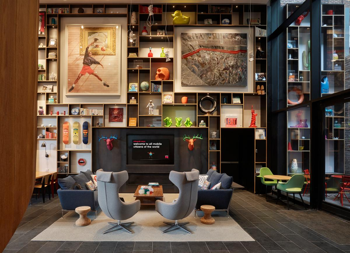The hotel will also feature a public art programme and interiors displaying contemporary art / CitizenM