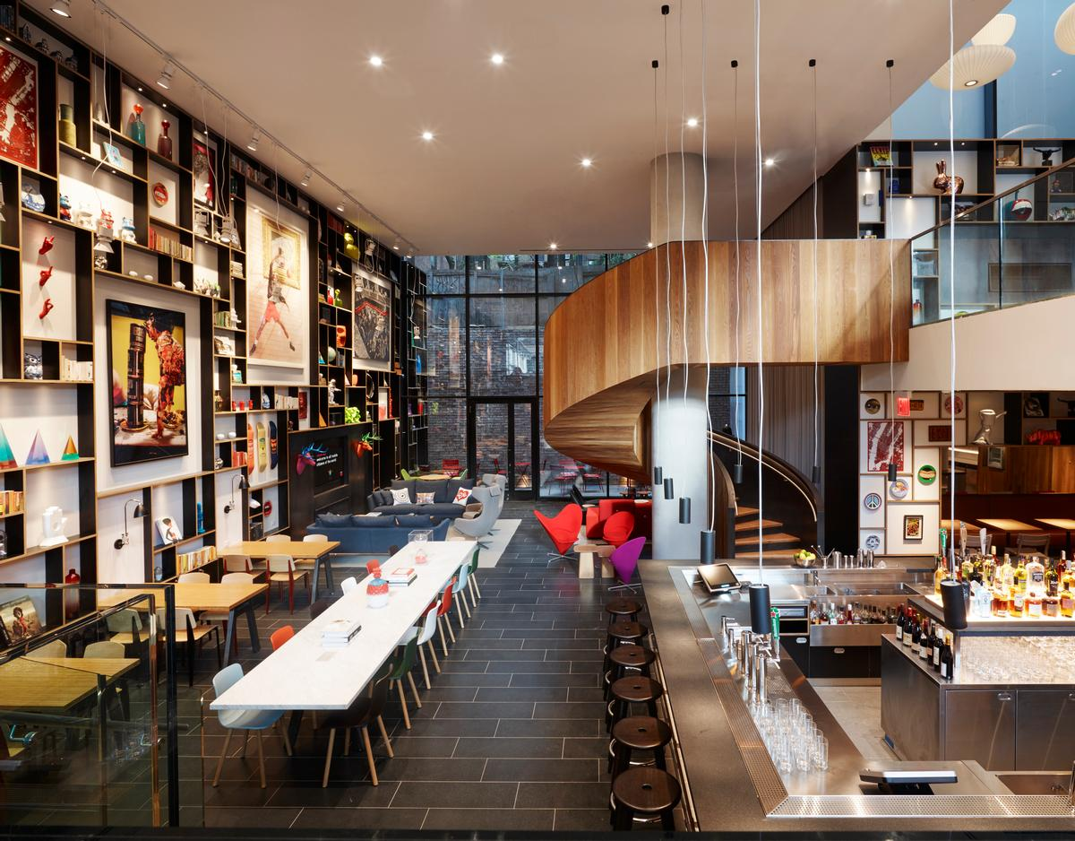 CitizenM Miami Worldcenter will feature the brand's signature creative spaces and meeting rooms, similar to that shown here / CitizenM