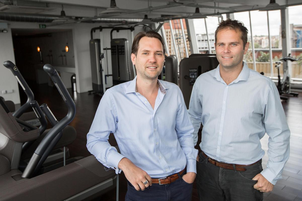 Jamie Ward (left) and Neil Harmsworth launched Hussle (then called PayAsUGym) in 2011 / Hussle