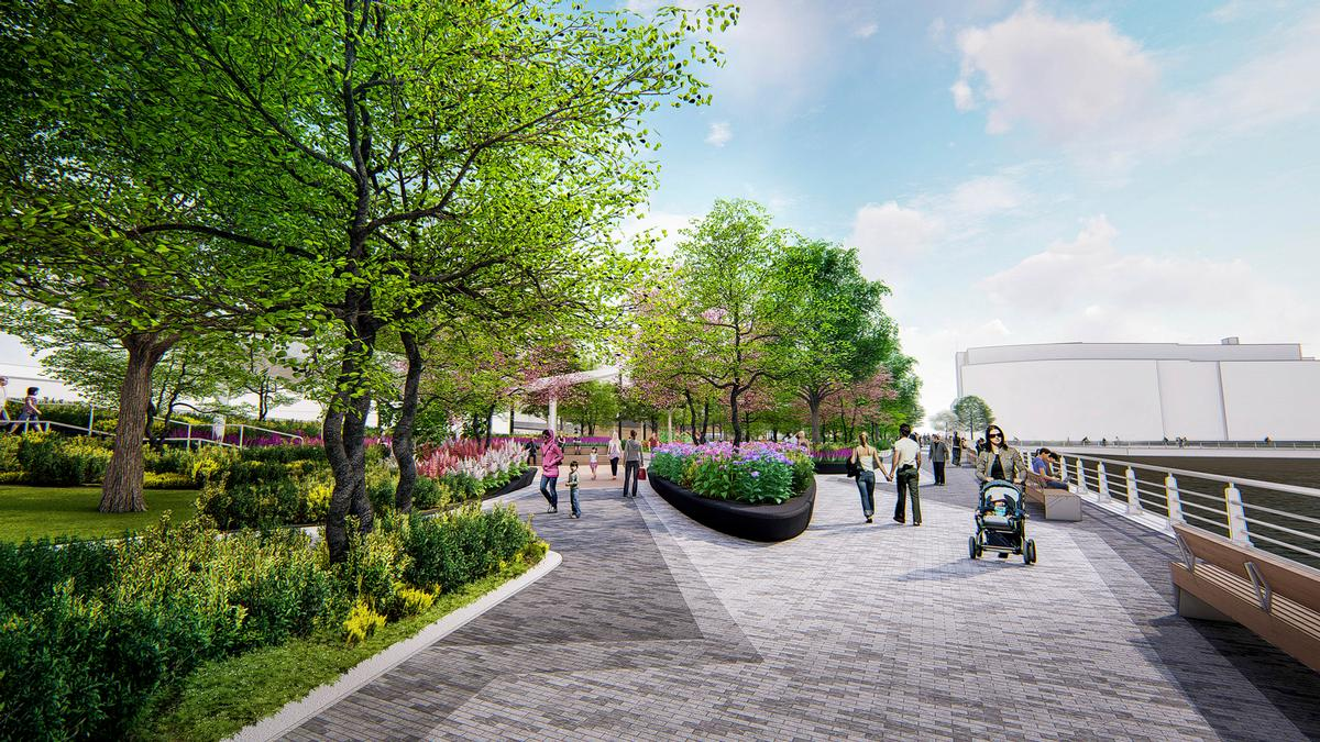 Pier 97 is part of the wider Hudson River Park project, which is transforming four miles of waterfront along Manhattan's West Side into a riverside park / !melk / Hudson River Park Trust