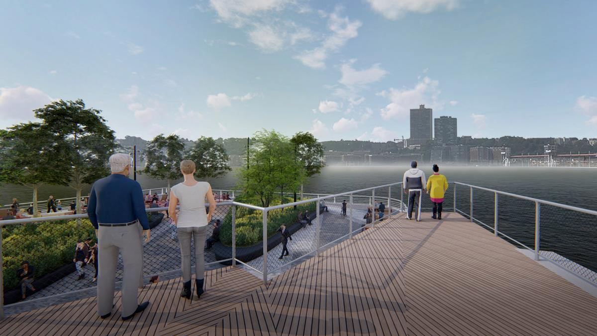The pier will include green and public spaces, extensive planting and accompanying amenities / !melk / Hudson River Park Trust
