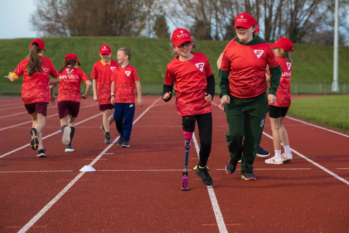 Funetics helps 4-11 year old children across the country to learn, develop and practice running, jumping and throwing skills / England Athletics