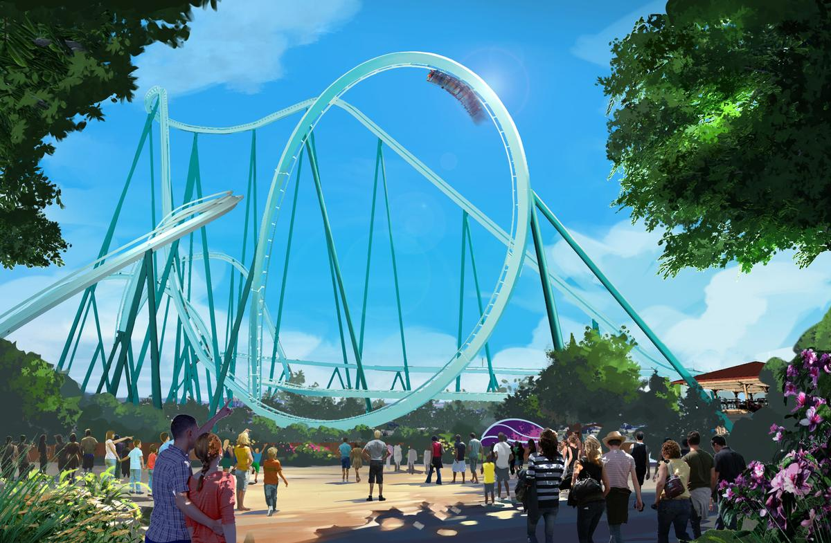 The Emperor dive coaster is being built by Bolliger & Mabillard / SeaWorld