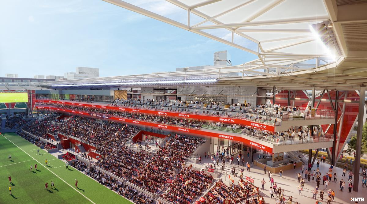 The stadium will hold upwards of 20,000 people / HNTB